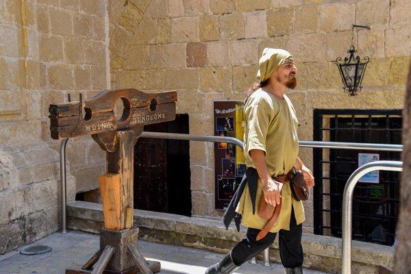 beul aan de kerkers van mdina malta