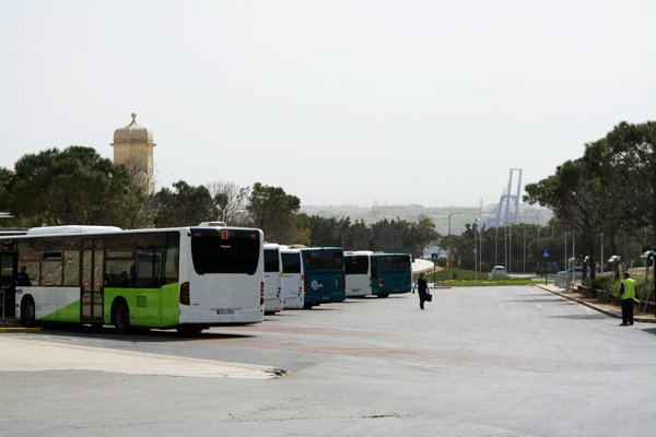 busstation floriana dichtbij valletta hoofdstad malta
