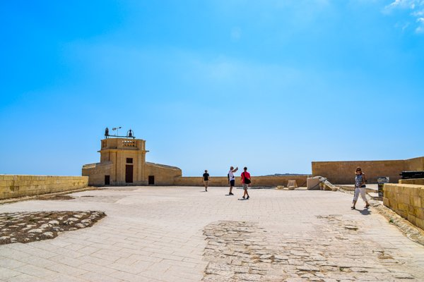 citadel victoria rabat bastion nabij toegangspoort gozo eiland