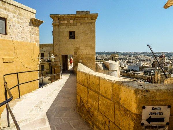 citadel victoria rabat bastion over toegangspoort gozo eiland