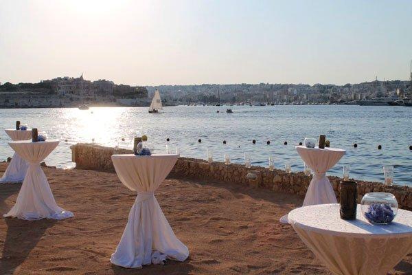 cocktailtafels huwelijksreceptie grand hotel excelsior malta