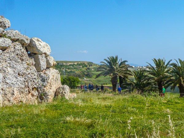 ggantija tempels in xaghra uitzicht rondom gozo eiland
