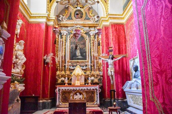 kathedraal van victoria citadel kapel gozo eiland
