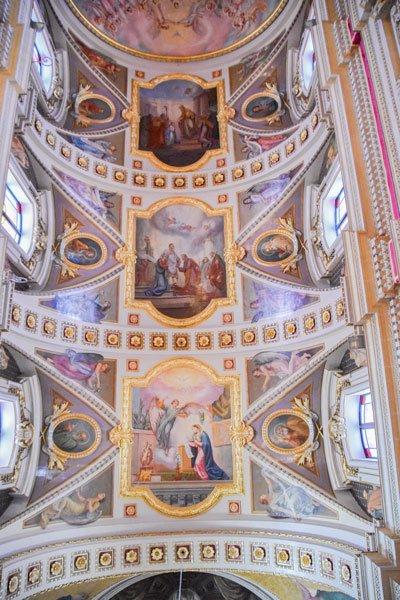 kathedraal van victoria citadel plafondschildering middenschip gozo eiland