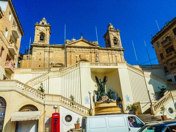 kerk van onbevlekte ontvangenis cospicua the three cities voorkant