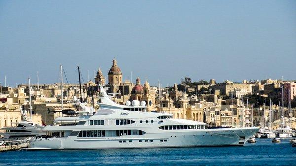 megajacht vittoriosa the three cities malta