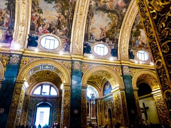 plafondschilderingen en bladgoud st john's co-kathedraal valletta bezienswaardigheden