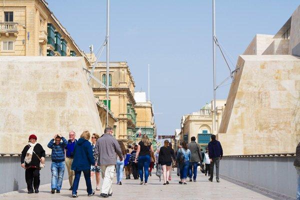 valletta hoofdstad malta ingang stadspoort