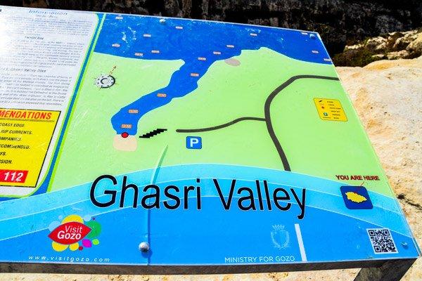 wied il ghasri vallei baai uitleg gozo eiland
