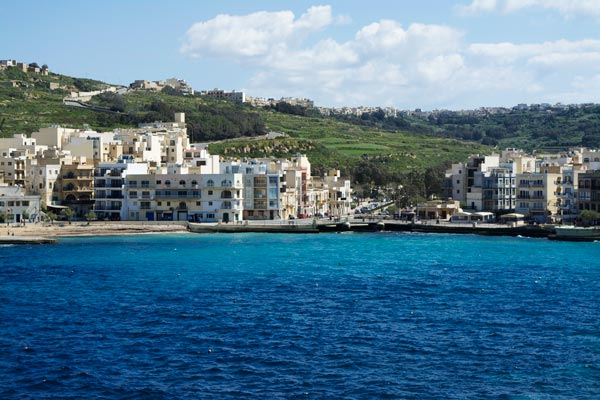 baai marsalforn gozo eiland malta