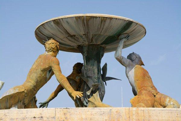 fontein floriana dichtbij valletta hoofdstad van malta