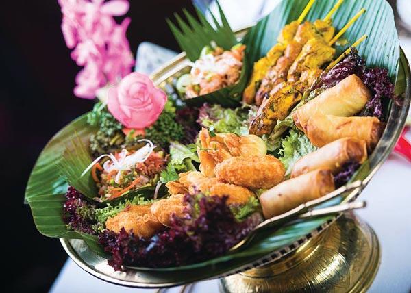 gefrituurde snacks blue elephant restaurant hilton malta hotel