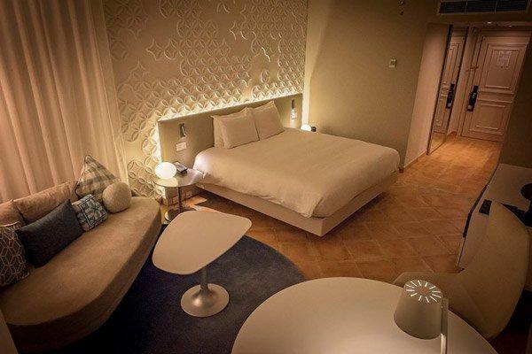 inrichting en meubilair kamer hilton malta hotel