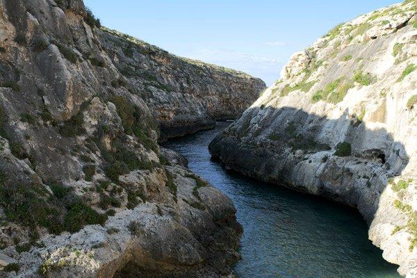 kliffen ghasri valley gozo eiland malta