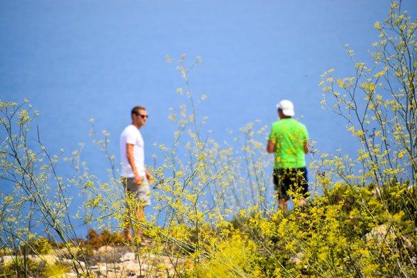 mooi uitzicht voor toeristen van nabij giordan vuurtoren ghasri gozo eiland