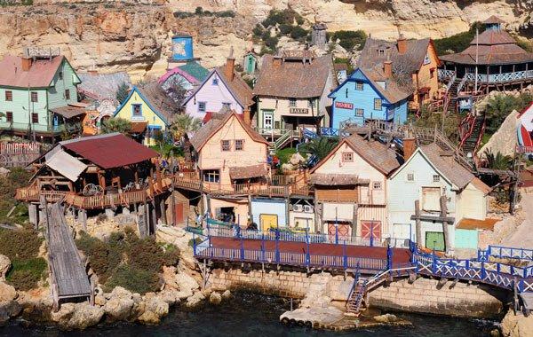 popeye village anchor bay mellieha noorden van malta