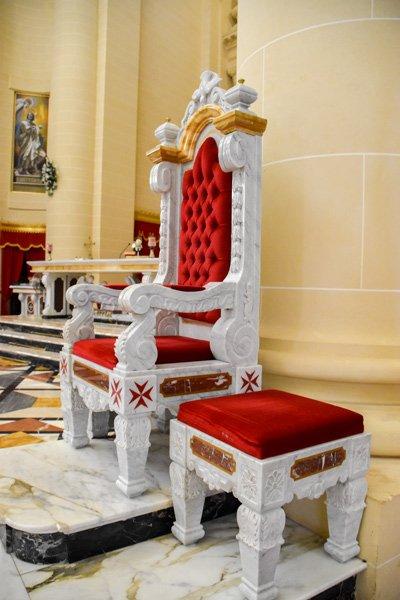 rotunda koepelkerk in xewkija sierlijke stoel gozo bezienswaardigheden