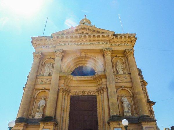 rotunda koepelkerk in xewkija voorzijde gozo bezienswaardigheden