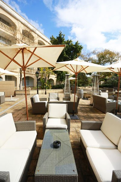 terras caprice lounge bar corinthia palace hotel and spa malta