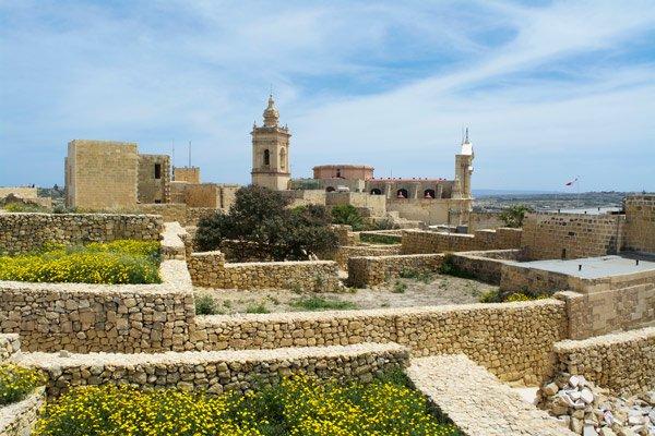 de citadel in victoria gozo eiland malta
