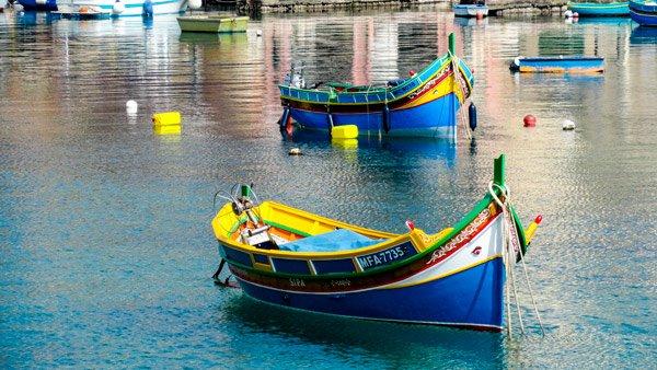 vakantiehuis malta vissersbootjes malta