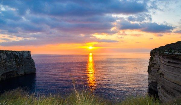 vakantiehuis malta zonsondergang imtahleb eiland malta