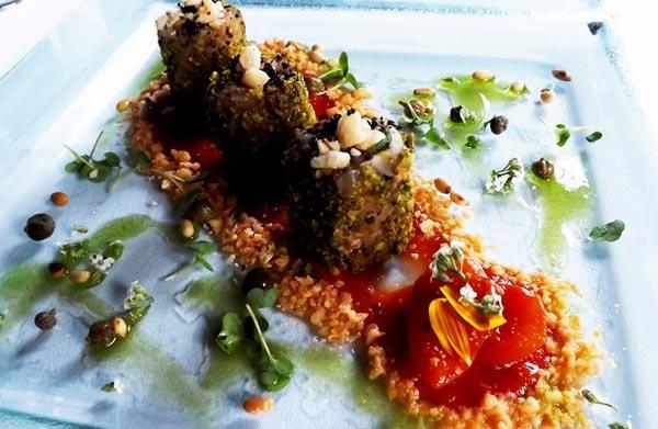 zwaardvis rolletjes pegasus restaurant phoenicia hotel malta