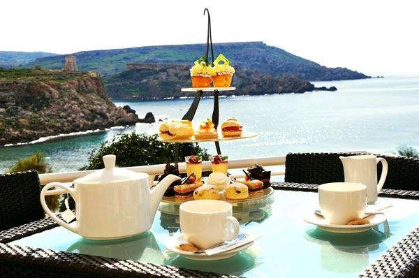 afternoon tea mokka lobby bar radisson blu golden sands malta