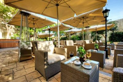 caprice lounge bar wine garden corinthia palace hotel and spa malta