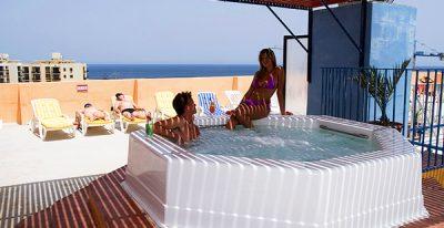 outdoor jacuzzi canifor hotel malta