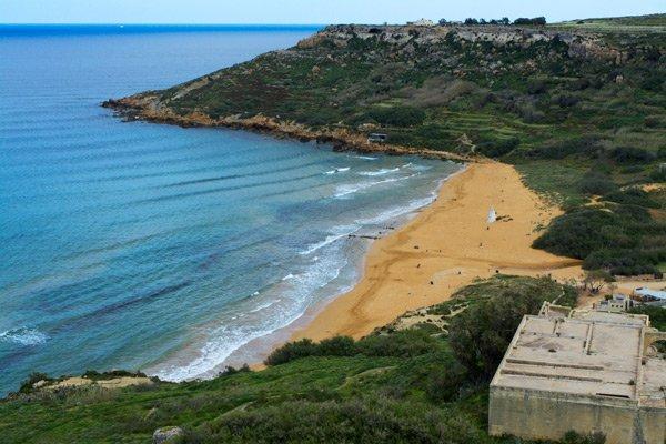 ramla bay noorden van gozo eiland malta