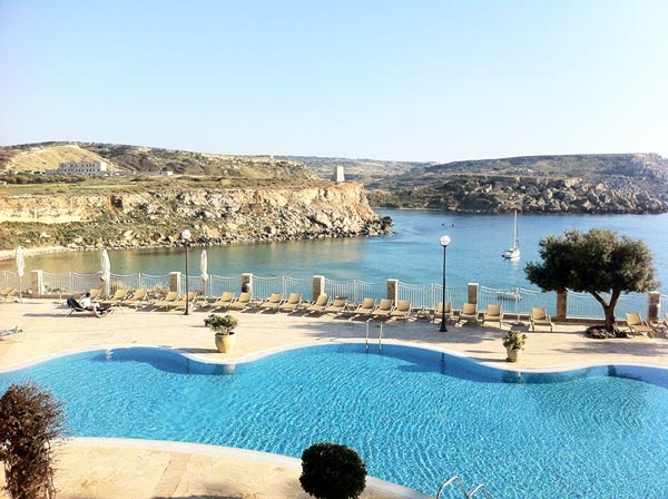 swimming pool stunning view radisson blu golden sands malta