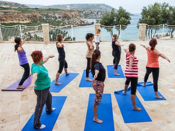 yoga class radisson blu malta golden sands