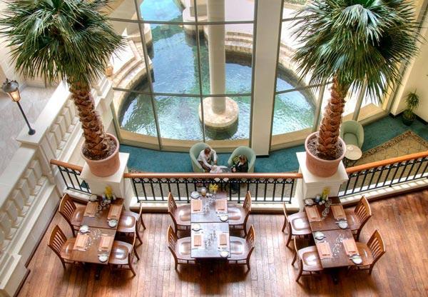bottega del vino restaurant interior hilton malta hotel