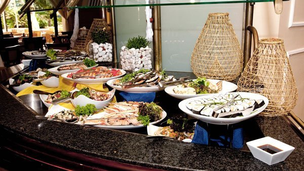 delicious buffet at the terrace restaurant westin dragonara malta