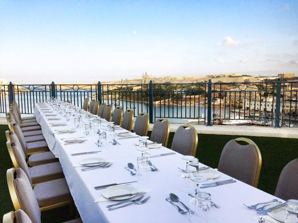 event rooftop terrace the waterfront hotel malta