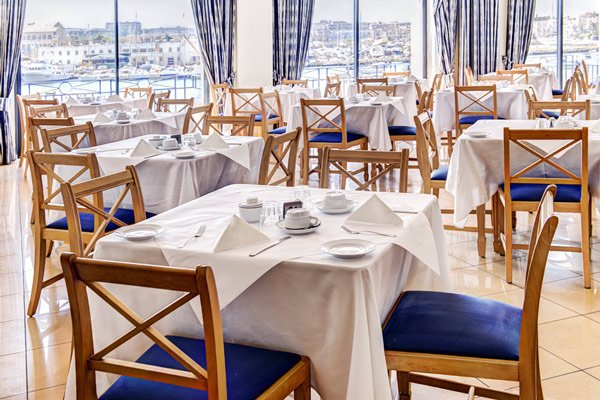 interior regatta restaurant the waterfront hotel sliema malta