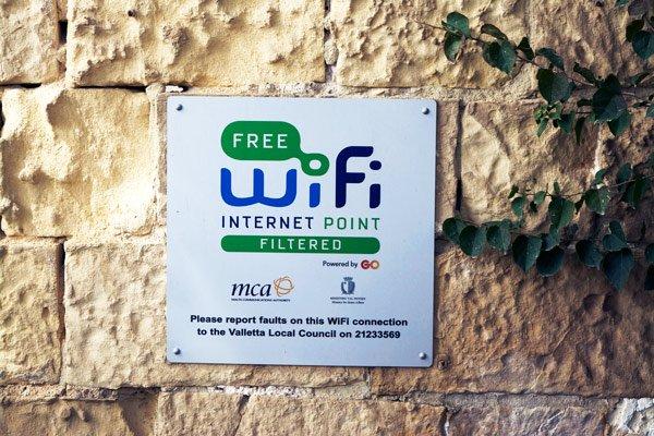 malta vakantie tips internet wifi openbare plaatsen malta gozo