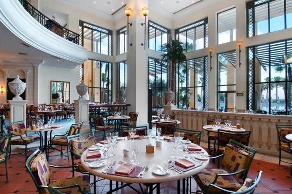 oceana restaurant interior hilton hotel malta