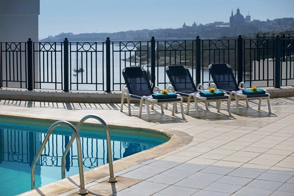 outdoor swimming pool valletta view the waterfront hotel sliema malta