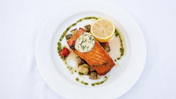 salmon supreme palios restaurant westin dragonara malta