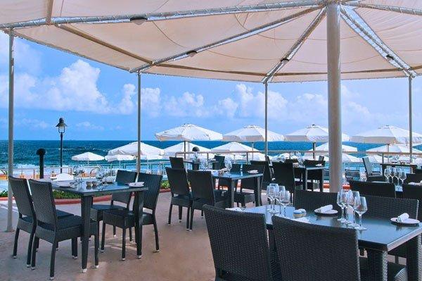 terrace merkanti beach club hilton malta hotel