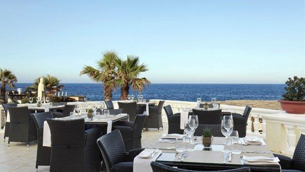 terrace quadro restaurant westin dragonara malta