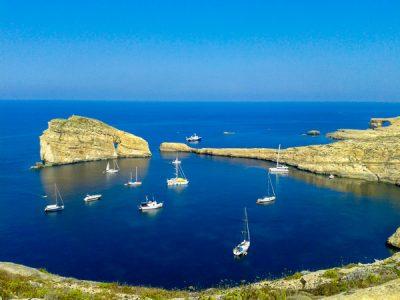 Waar ligt Malta? Maltese eilanden - eiland Gozo - Dwejra - Fungus Rock nabij het Azure Window